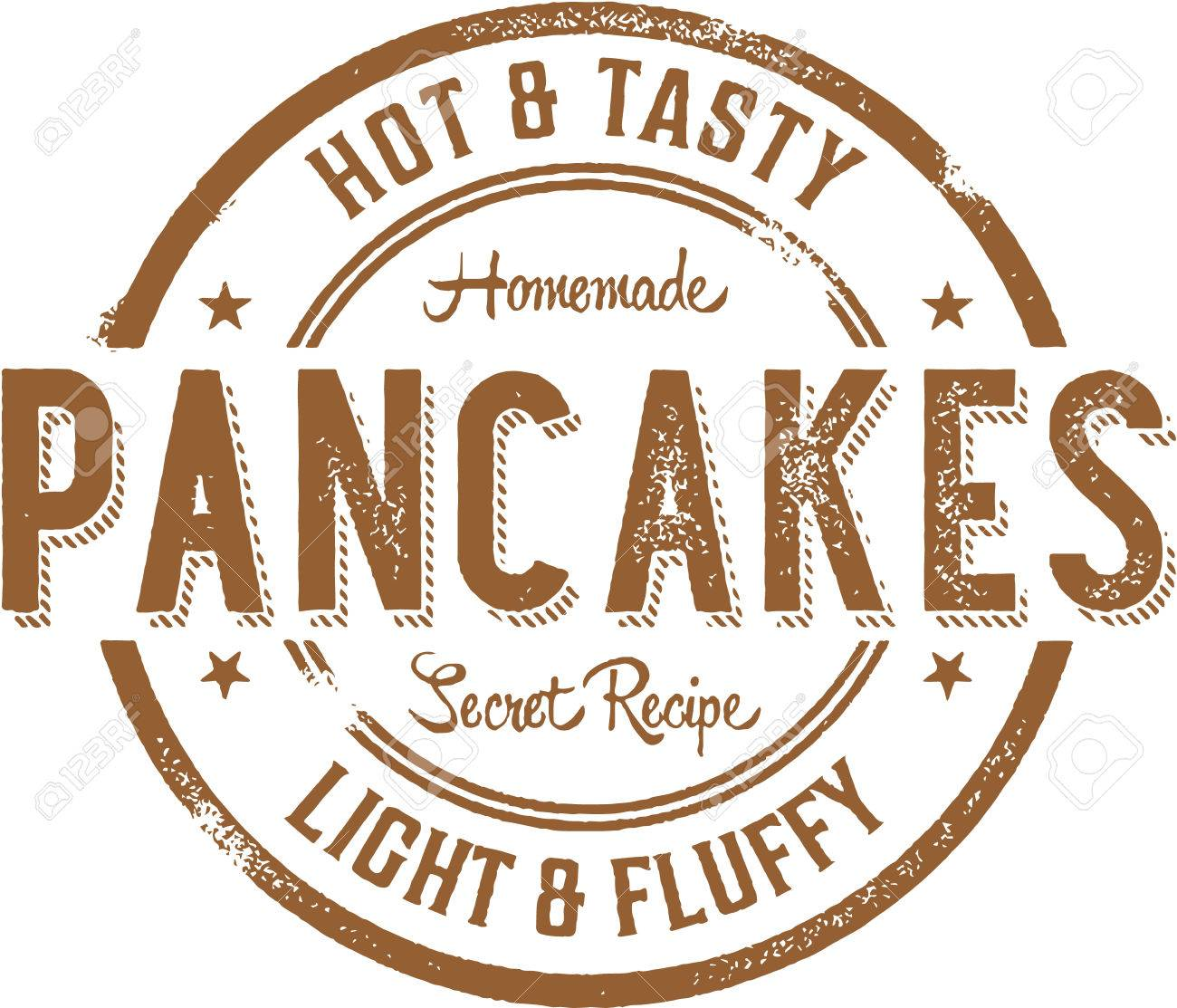Hot Pancakes Breakfast Stamp.