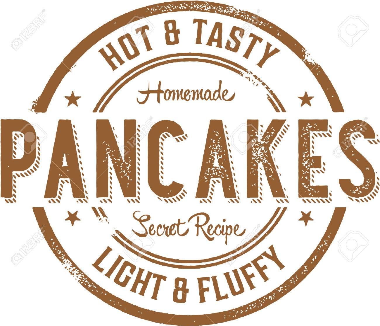 Hot Pancakes Breakfast Stamp.