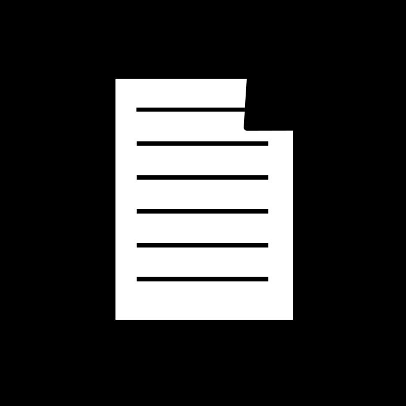 Free Clipart: Paper 2 icon.