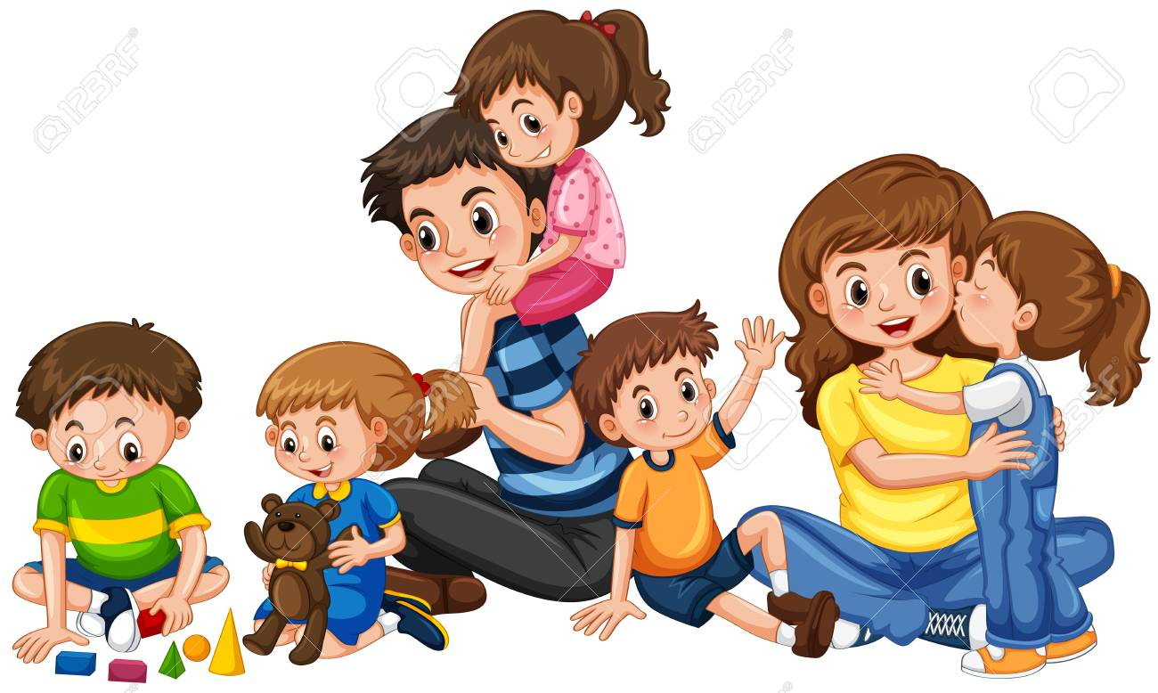 Parents And Kids Clipart.
