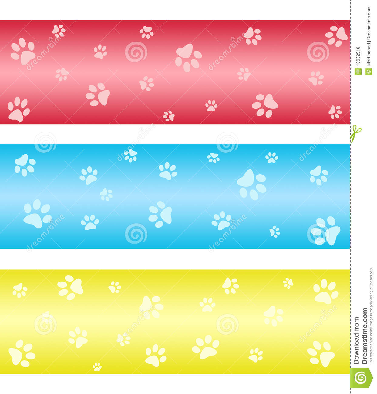 free clipart paw print banner clipground