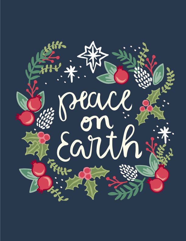 Free Printable Peace on Earth.