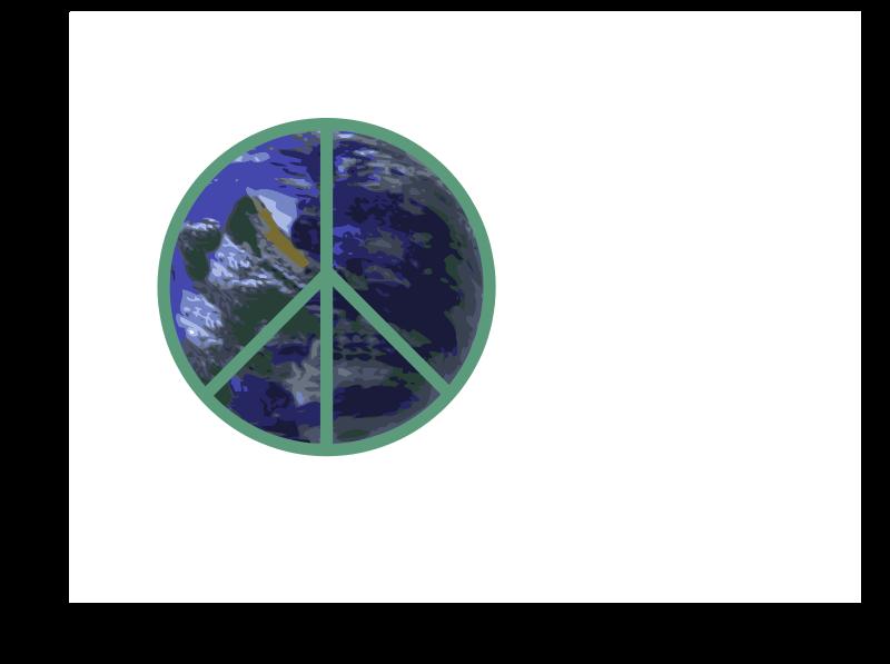 Free Clipart: Peace on Earth Logo.