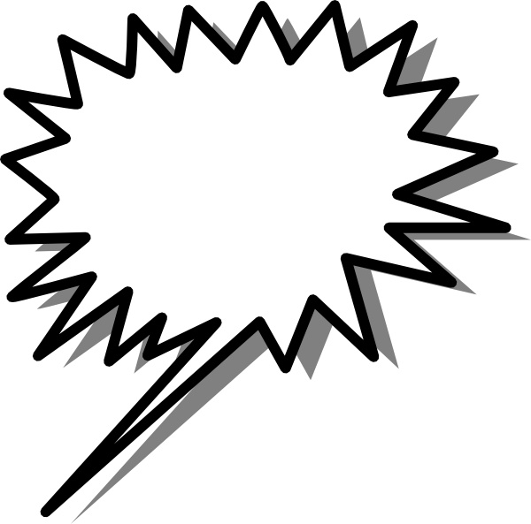 Starred Callout clip art Free vector in Open office drawing svg.