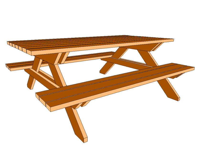 Best Picnic Table Clipart #16160.