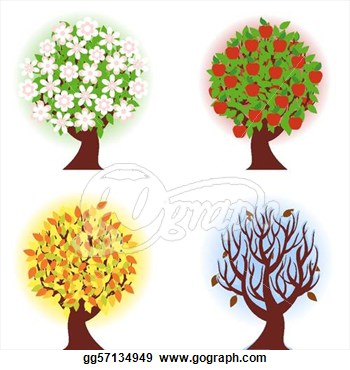 Free Clipart Picture Of Six Apples On A Tree.