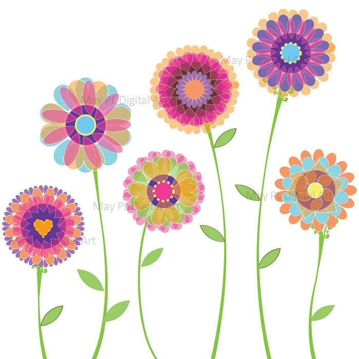 Free Clipart Spring Flowers Spring Flowers Clipart Pink.