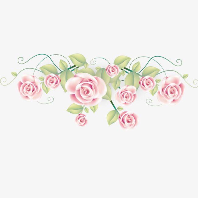 Romantic Pink Roses Free Material.
