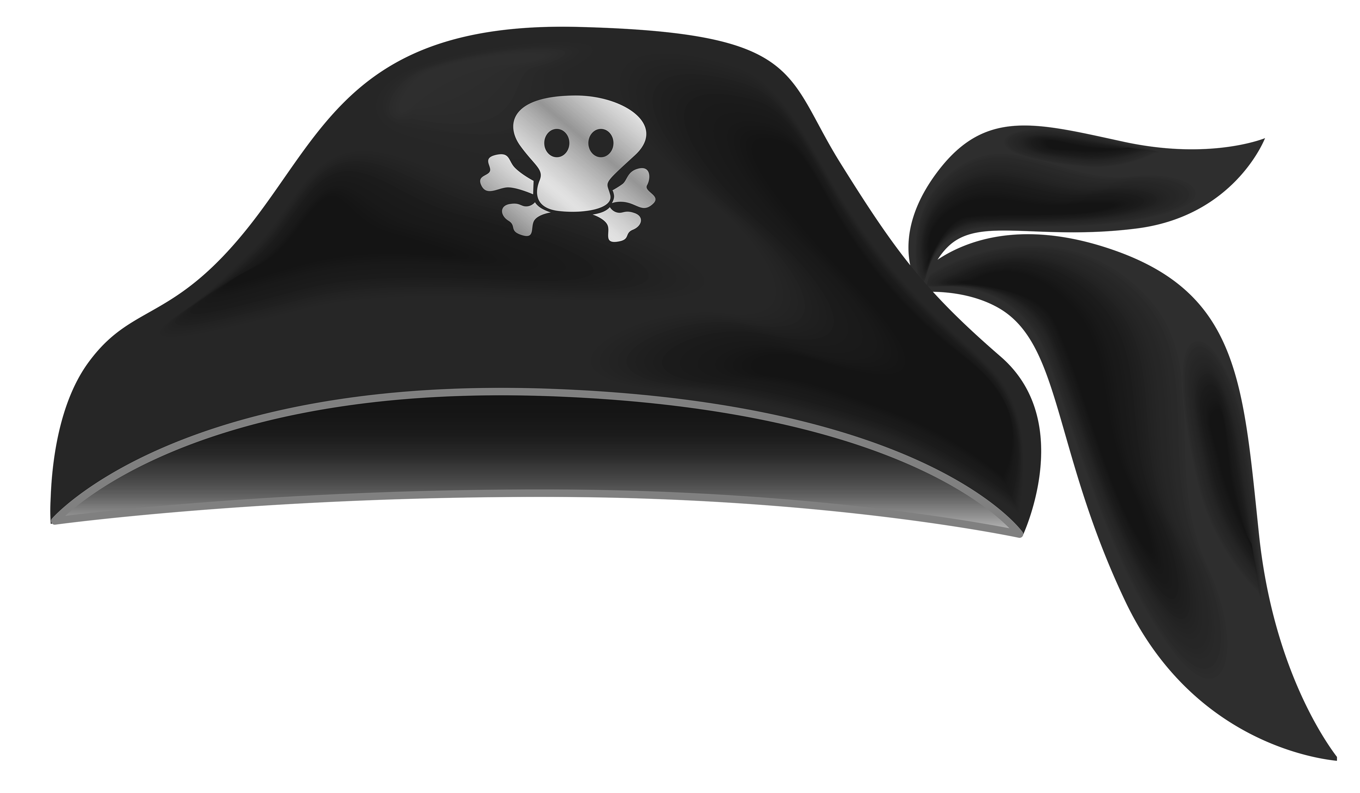 Black Pirate Hat Clipart.