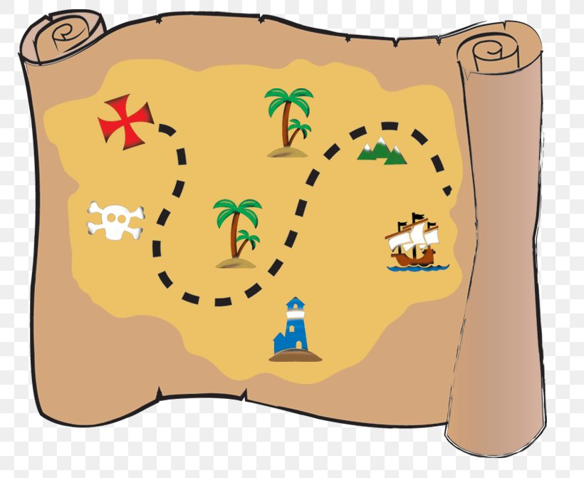 Treasure Map Buried Treasure Piracy Clip Art, PNG, 792x671px.