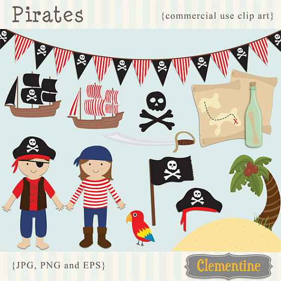 Pirate clip art images, pirate clipart, pirate vector, royalty.