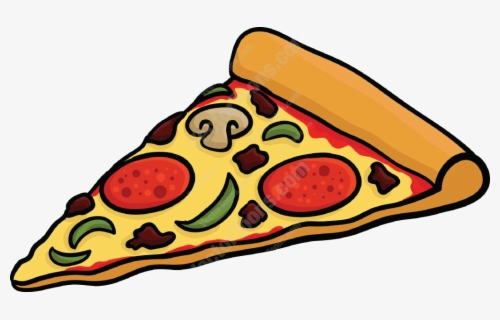 Free Pizza Slice Clip Art with No Background.