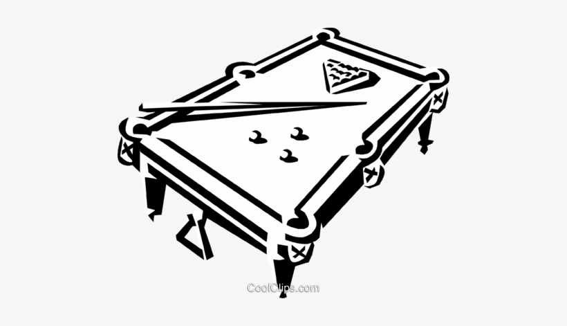 Pool Table And Balls Royalty Free Vector Clip Art.