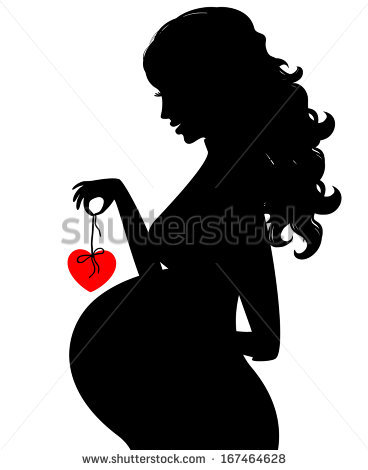 Pregnant Woman Silhouette Stock Photos Images & Pictures.
