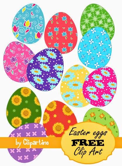 Free Printable Easter Egg Clipart.