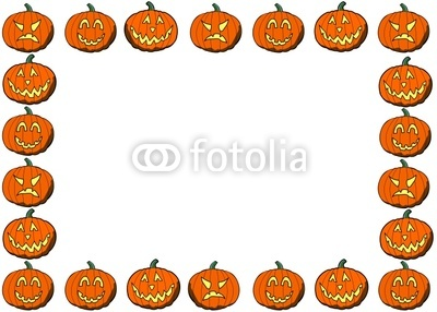 Pumpkin clipart row.