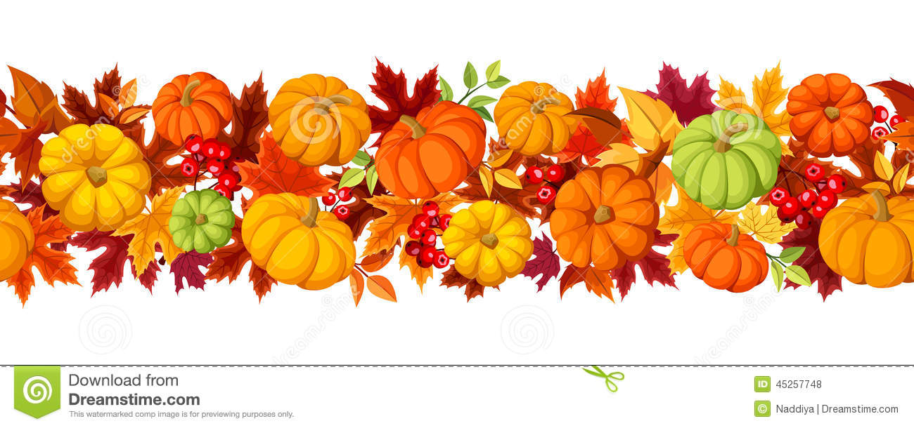 Pumpkin And Leaves Clipart.