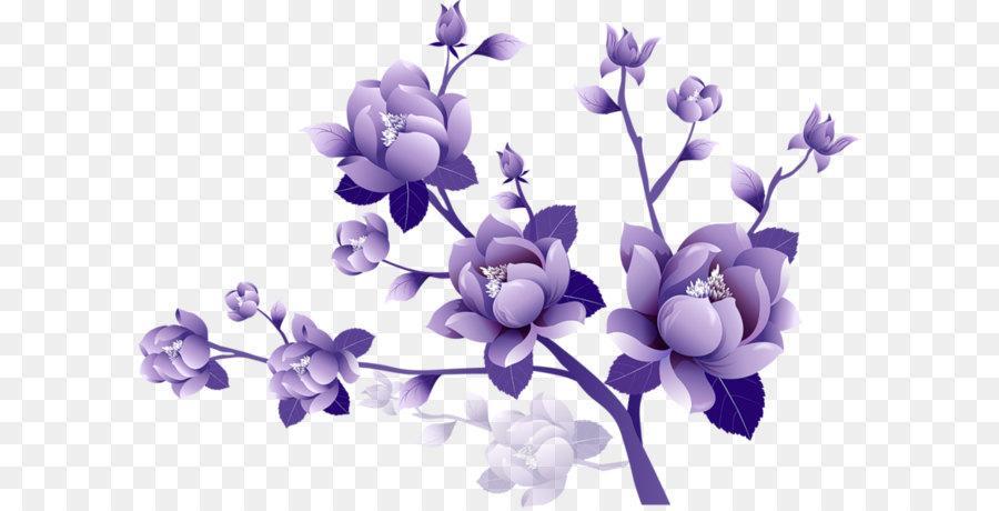 609 Purple Flower free clipart.