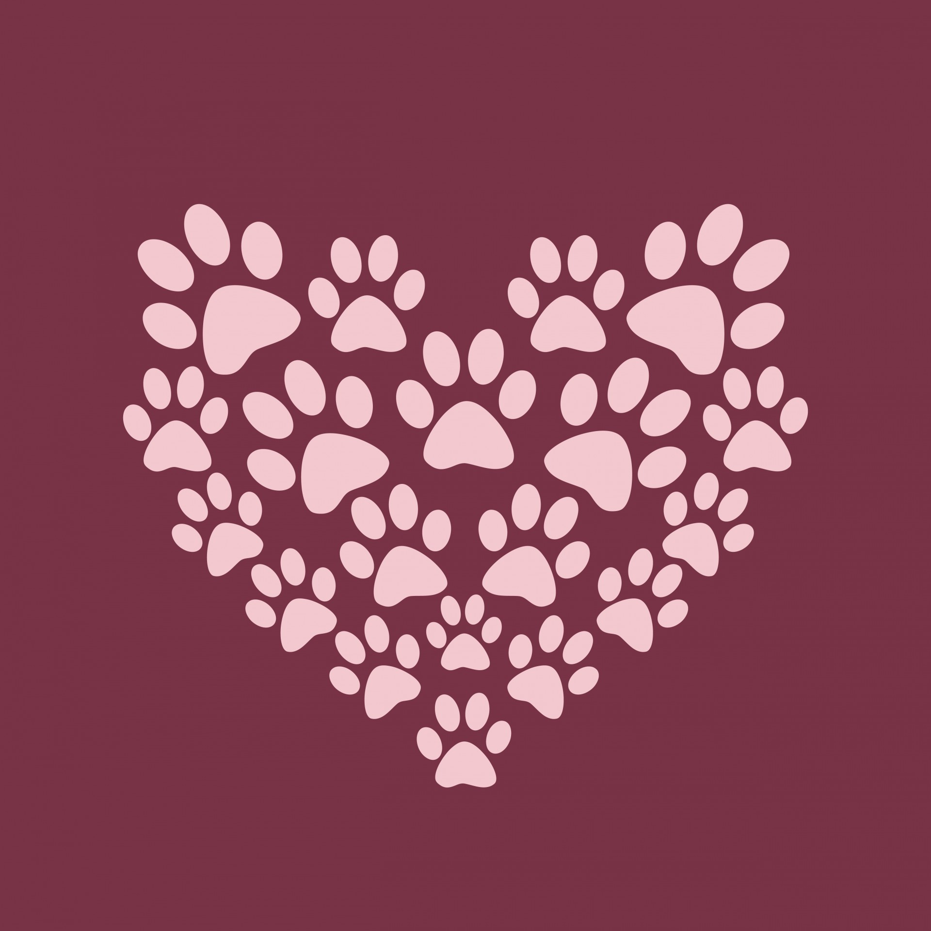 Free Clipart Purple Paw Print Background 20 Free Cliparts