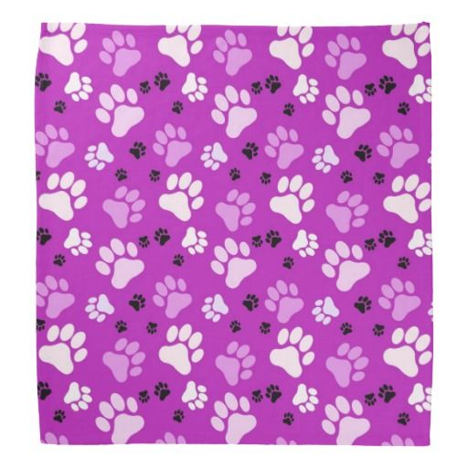 Free Clipart Purple Paw Print Background