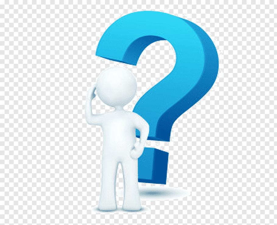 Blue question mark illustration, Question mark, thinking man.