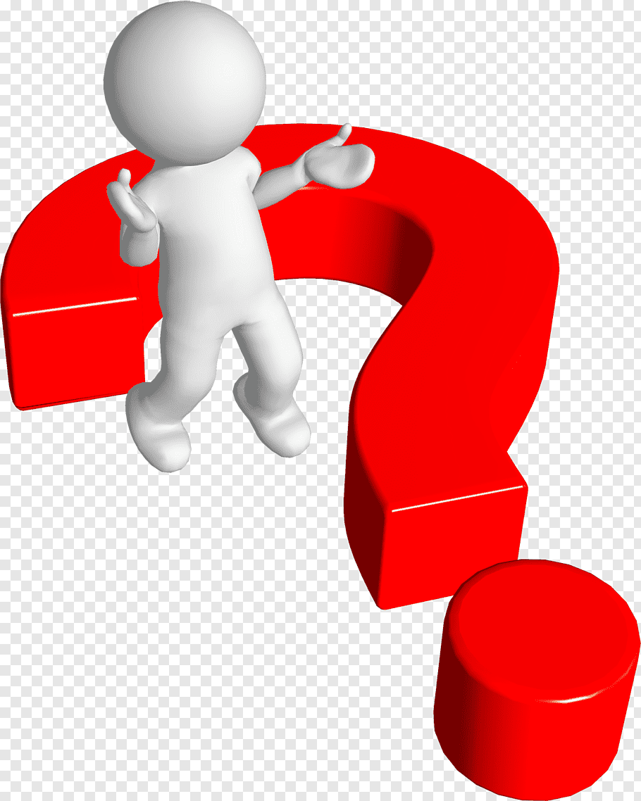 Red and white question mark, Question mark Person, 3d Man.
