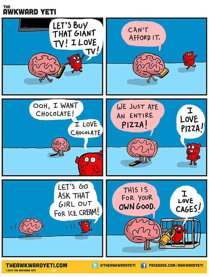 Heart Vs. Brain: Funny Webcomic Shows Constant Battle Between Our.