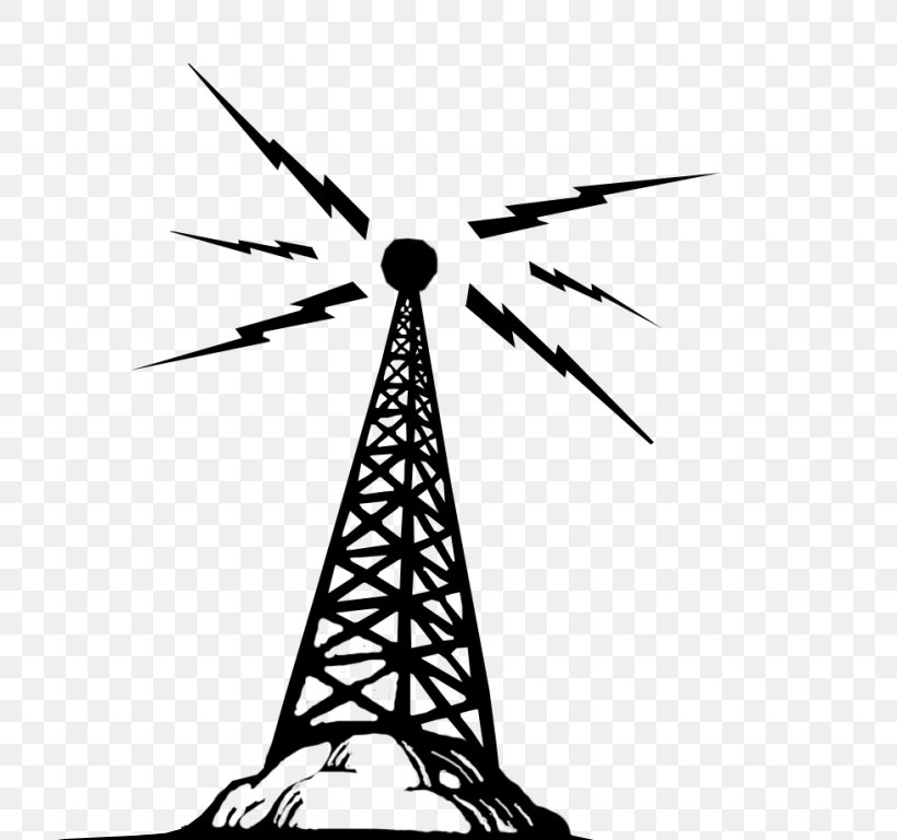 Radio Wave Telecommunications Tower Clip Art, PNG, 748x768px.