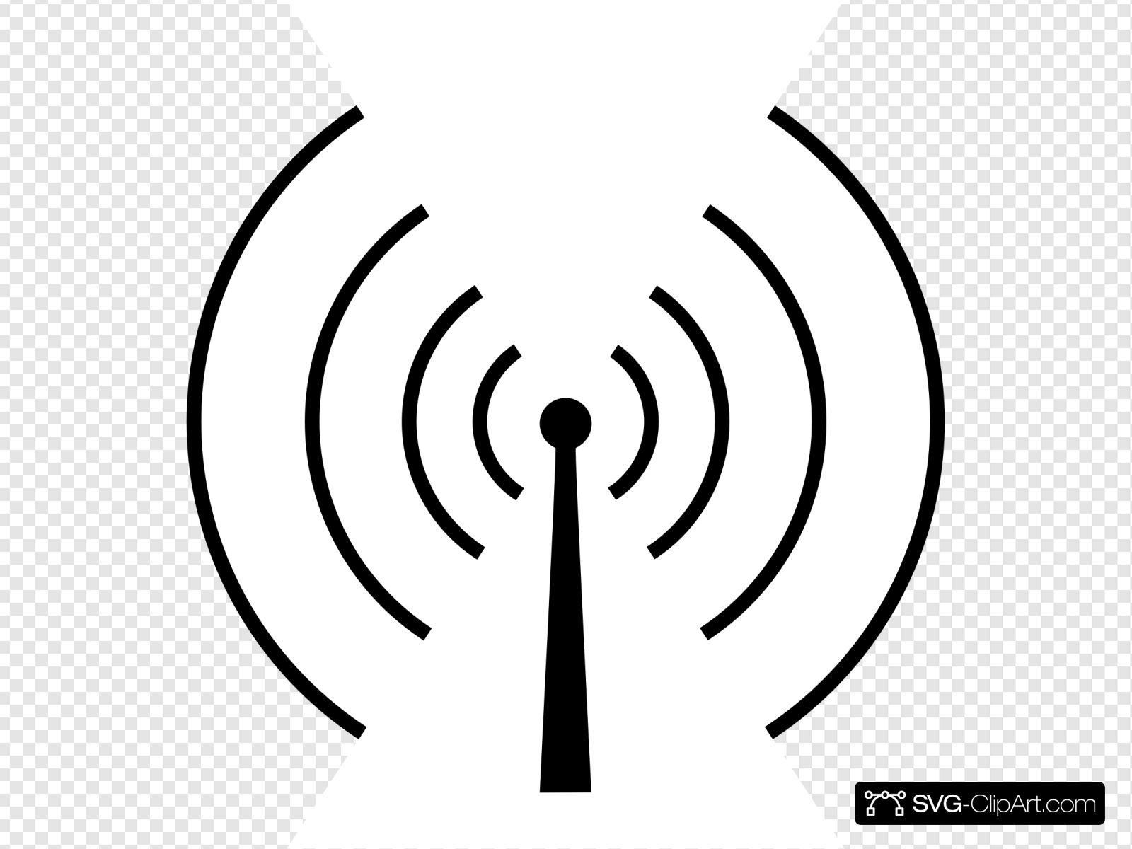 Radio Tower Circluar Clip art, Icon and SVG.