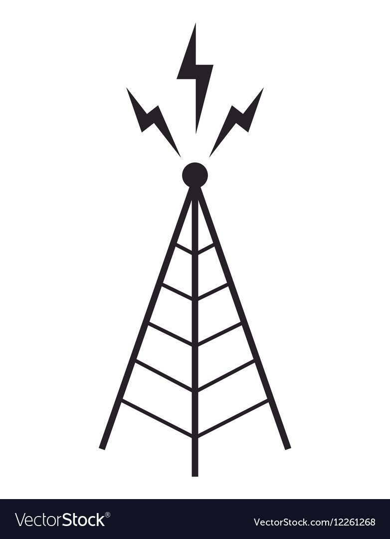 Radio tower antenna communication mast.