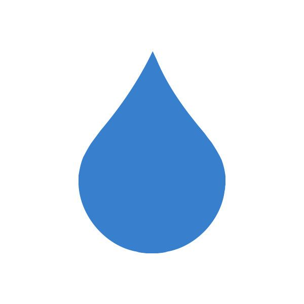 Free Clipart of a single rain droplet.