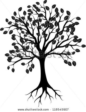 Realistic Apple Tree Drawing.