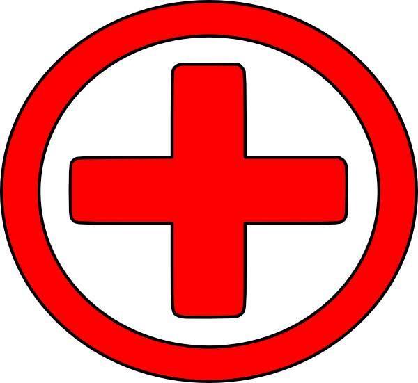Large Red Cross clip art.