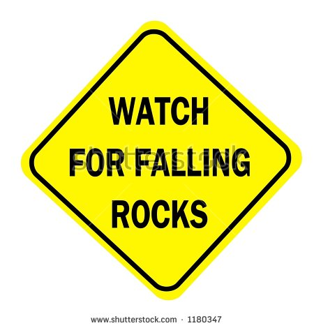 Free Clipart Road Signs Watch For Falling Rocks.