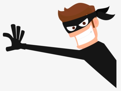 Free Thief Robber Clip Art with No Background.