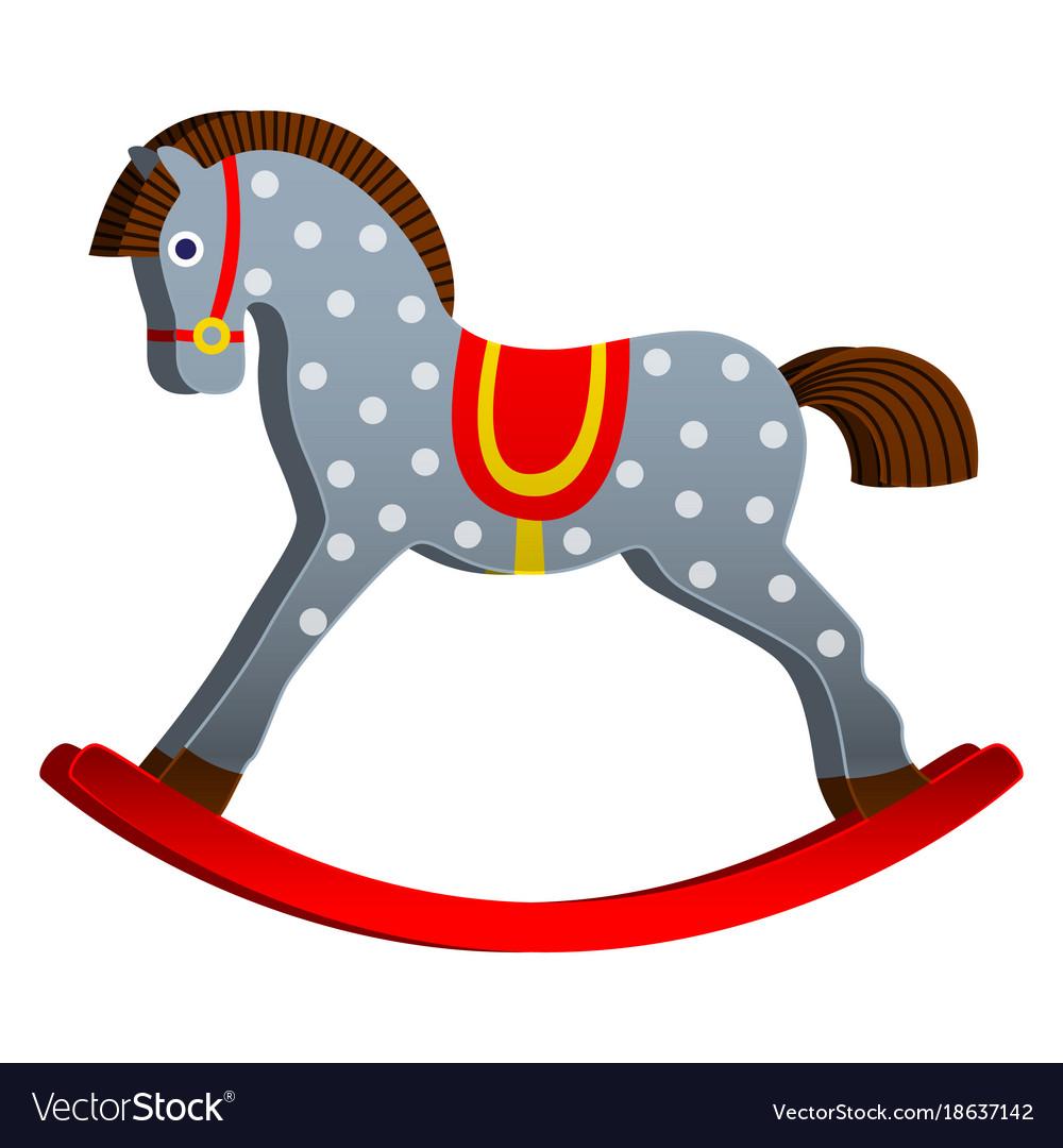 Rocking horse children s toy classic wooden.