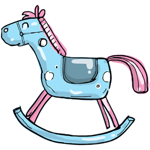Rocking horse 2 clipart, cliparts of Rocking horse 2 free.