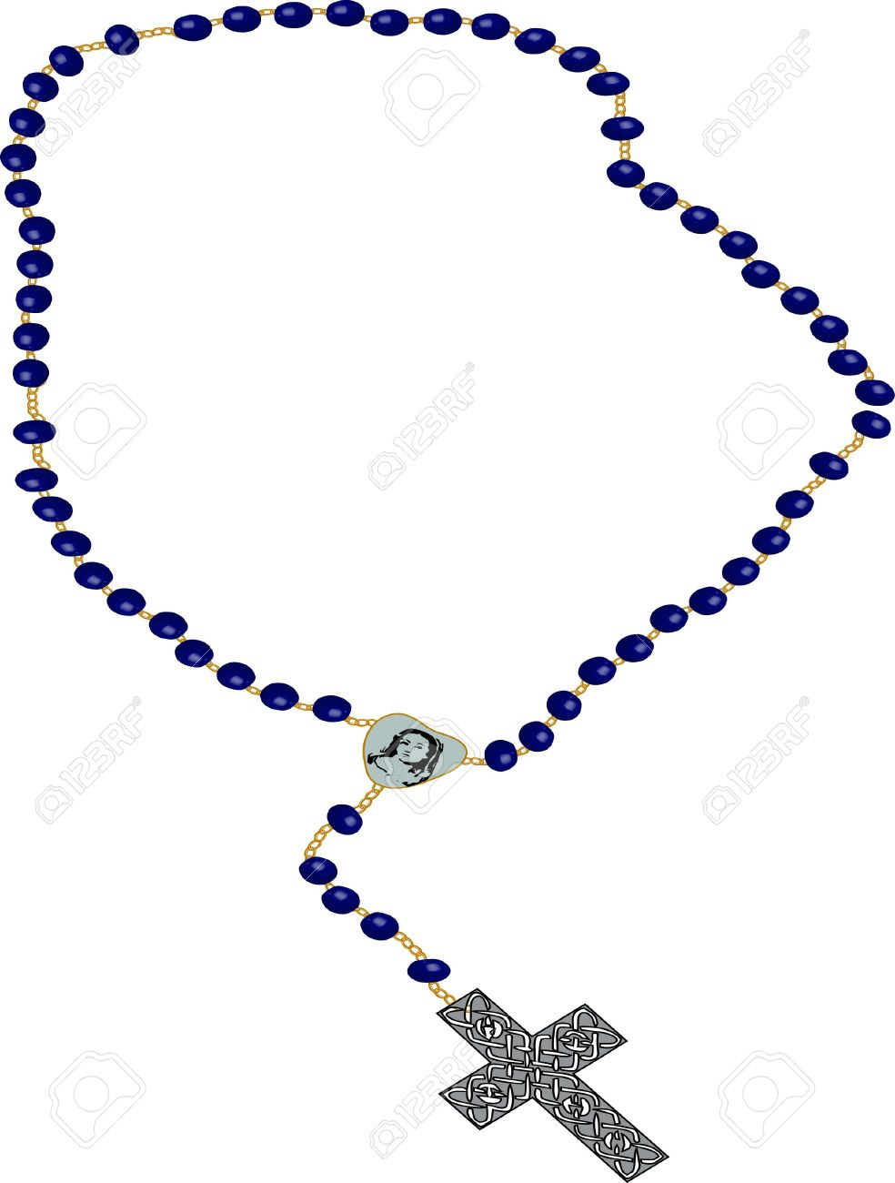 598 Rosary free clipart.