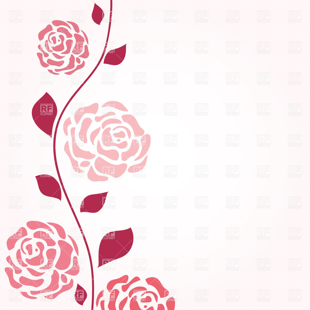 Pink Rose Clip Art Border.