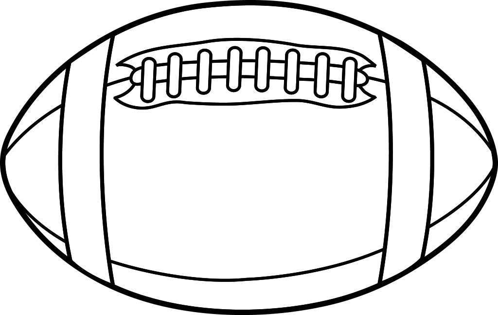 Image result for rugby ball clipart black and white.