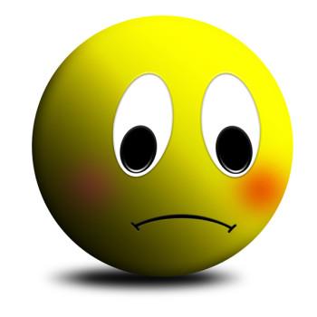 Clip Art Sad Face.