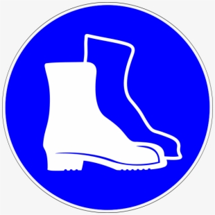 Safety Footwear Vector Sign , Transparent Cartoon, Free.