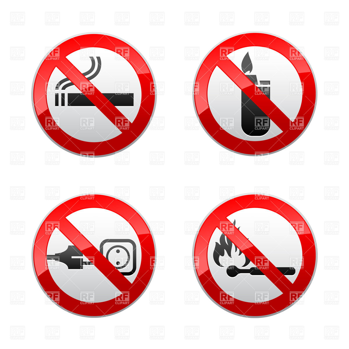Safety Icons Clipart.