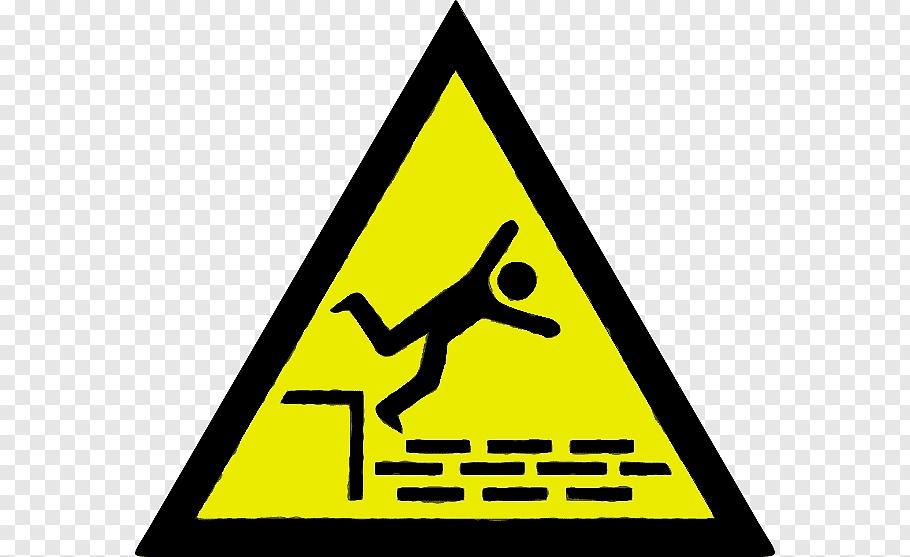 Hazard Symbol Sign, Warning Sign, Falling, Biological Hazard.