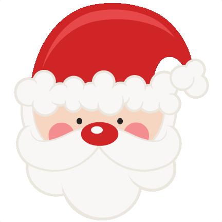 Cute Santa Face Clipart.