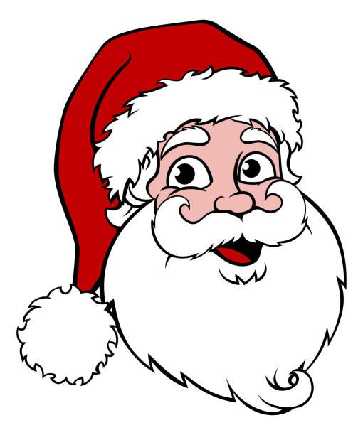 262 Santa Face free clipart.