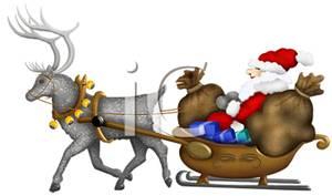 Pulling Santa's Sleigh.