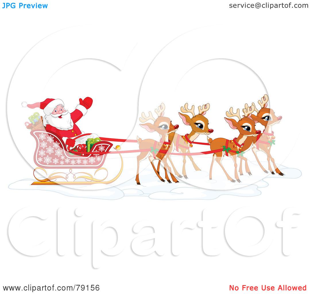 Similiar Reindeer Pulling Sleigh Clip Art Keywords.