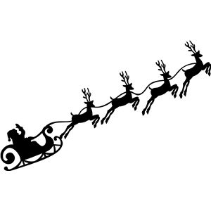 17 Best ideas about Santa Sleigh Silhouette on Pinterest.