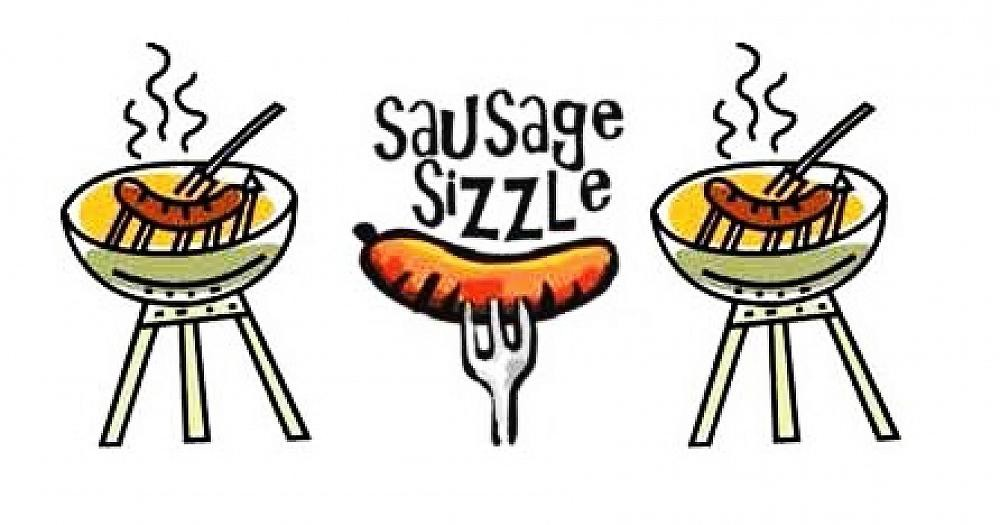 Grilling clipart sausage sizzle, Grilling sausage sizzle.